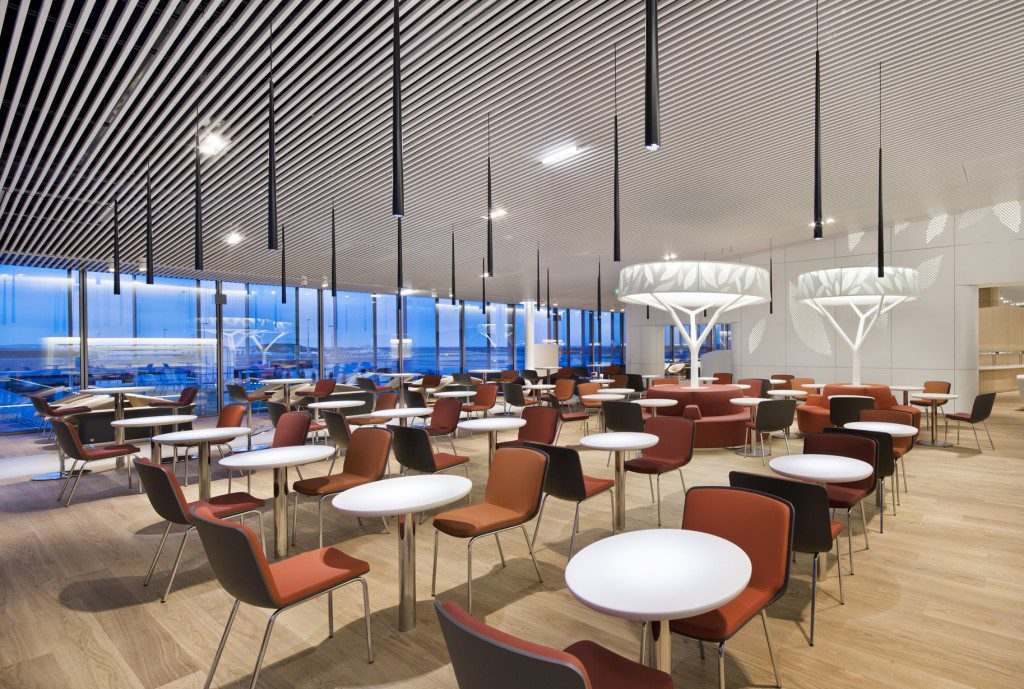 Vip airport lounge by sla architecture archilist for Amenagement restaurant interieur