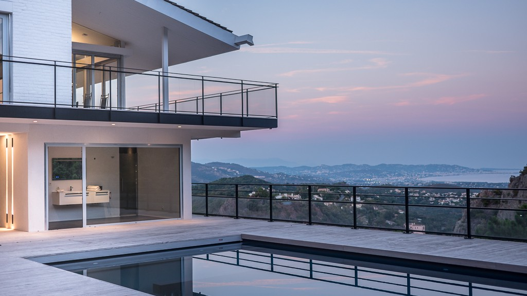 Suspended Villa Over The Bay Of Cannes By Blue